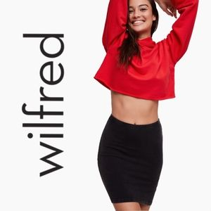 NWT WILFRED FREE | BLACK BODYCON MINI SKIRT